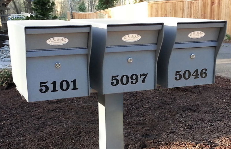 Multiple Mounted Residential Security Locking Mailboxes